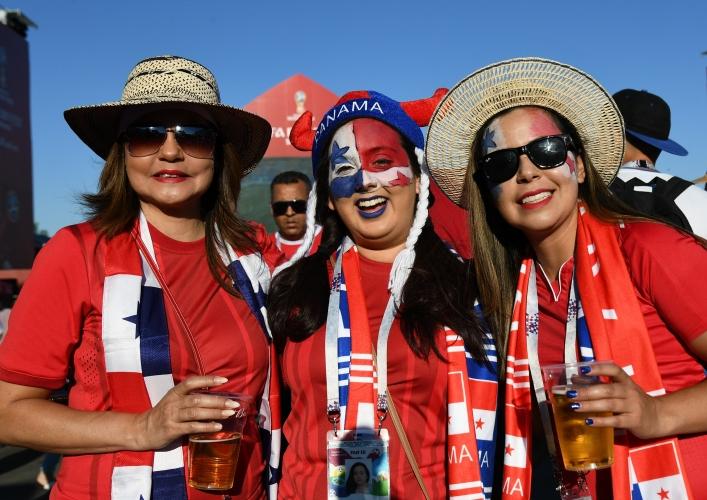 Феновете на Панама в мача срещу Тунис