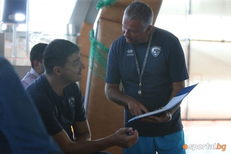Андреа Буратини проведе първа тренировка на ВК Левски