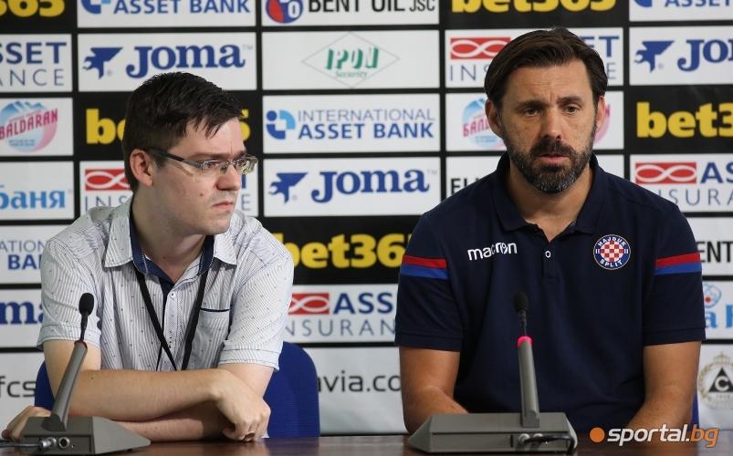Пресконференция на Желко Копич преди мача със Славия