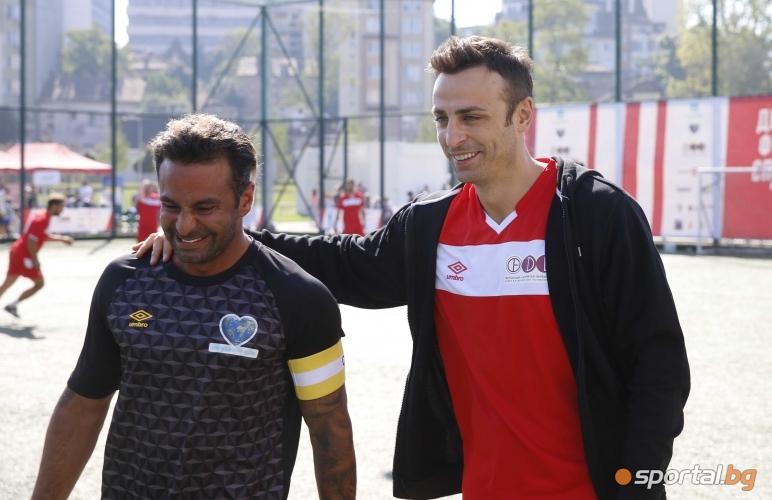 Благотворителен мач между отбора на Димитър Бербатов и отбора на пилота Ник Левентис