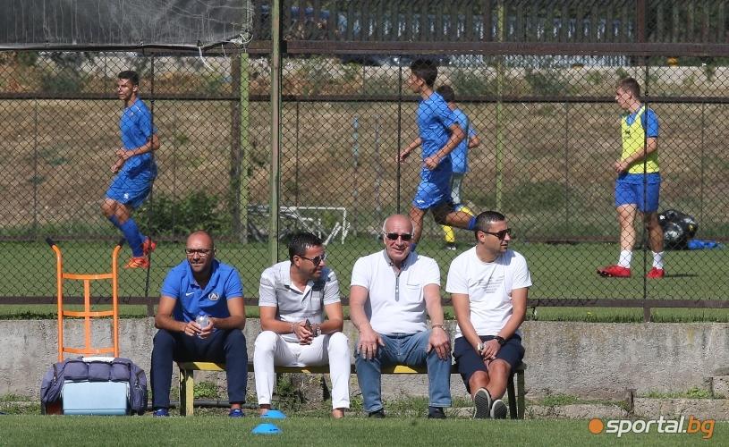 Футболистите на Левски с открита тренировка
