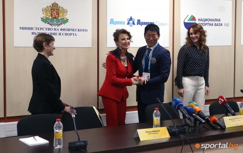Пресконференция на Илиана Раева, Мария Петрова и Моринари Ватанабе