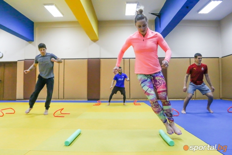 Тренировка на Ивелина Илиева и Шун джудо клуб