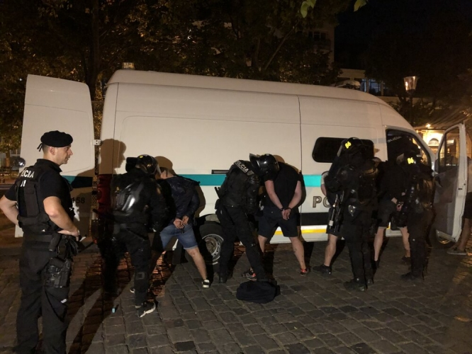 Погромът в Братислава след атаката срещу фенове на Левски