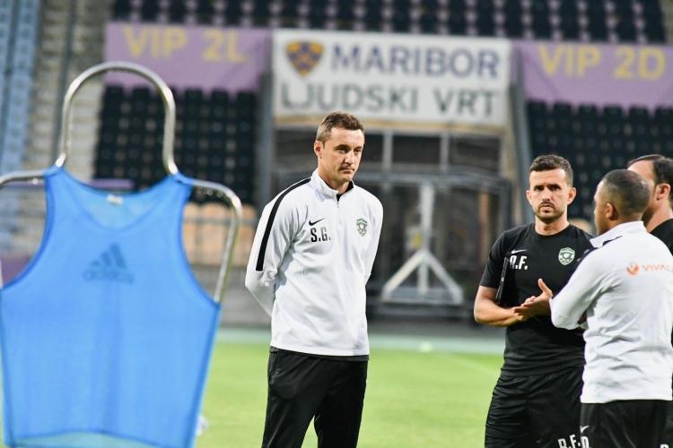 Лудогорец тренира преди мача в Марибор