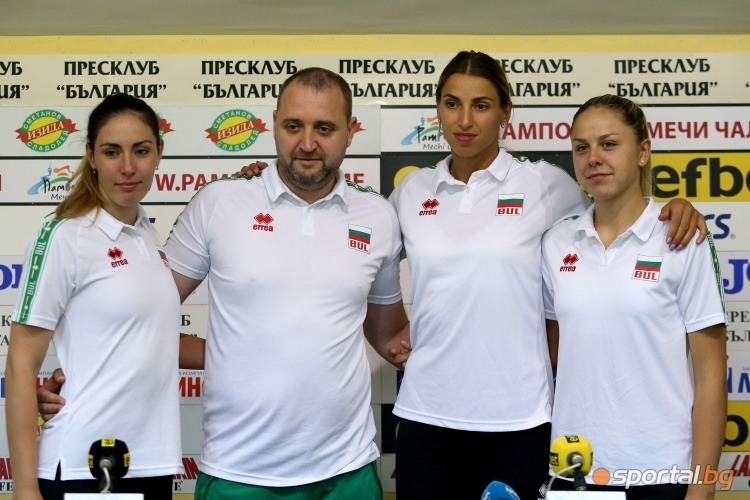 Пресконференция на женският национален отбор по волейбол
