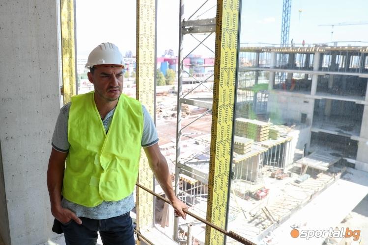 Вижте как върви строежа на новата зала на волейболният Левски