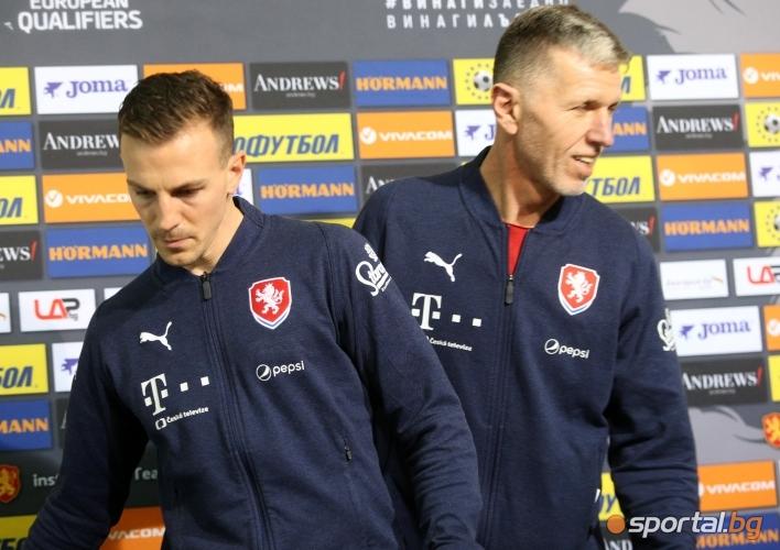 Пресконференция на треньорът на Чехия