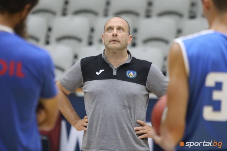Тренировка на БК Левски Лукойл