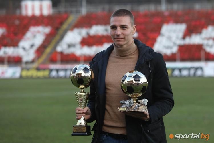 """Награждаване на Валентин Антов, Тиаго Родригес и Али Соу от церемонията """"Футболист на годината"""