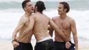"""""""Адзурите"""" се забавляват на плажа"""