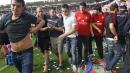 Срутване в Памплона, има ранени фенове на Осасуна