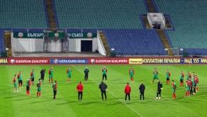 Националите тренират преди мача с Малта