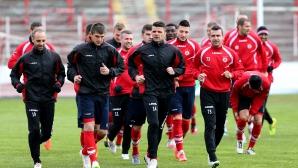 ЦСКА тренират преди мача с Ботев Пд