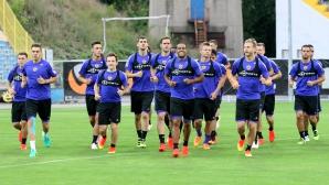 Футболистите на Марибор с вечерна тренировка