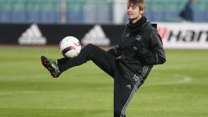 Тренировка на ФК Копенхаген преди мача с Лудогорец