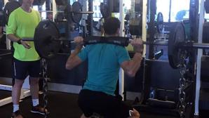 Григор Димитров тренира здраво за Индиън Уелс