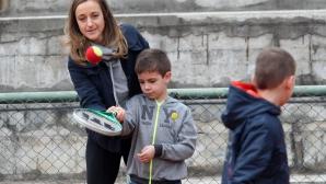 Малееви с открит урок по тенис