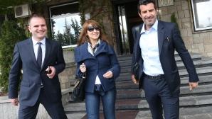 Луиш Фиго пристигна в София