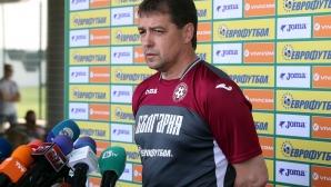 Петър Хубчев и трима национали говориха пред медиите