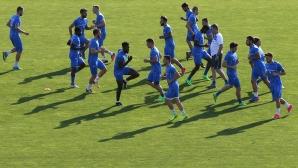 Последна тренирвока на Левски преди двубоя с Хайдук
