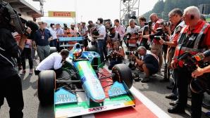 """Синът на Шумахер подкара шампионски болид на баща си на """"Спа"""""""