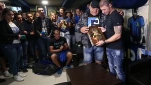 Десетки фенове на Левски изпратиха Боян Йоргачевич, който сложи край на кариерата си