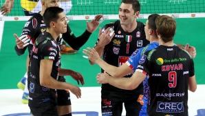 Полуфинал 1 на Суперкупата на Италия: Лубе - Модена 3:1