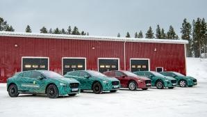 Jaguar I-Pace стъпи на леда (видео)