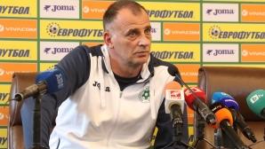 Пресконференция на Антони Здравков преди квалификацията със Словения