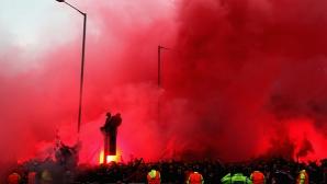 Феновете преди Ливърпул - Рома
