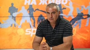 Сашо Ангелов в гостува в студиото на Sportal