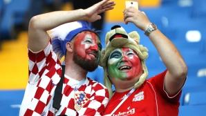 Феновете на Швейцария от мача с Бразилия