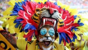 Феновете на Колумбия за срещата с Япония
