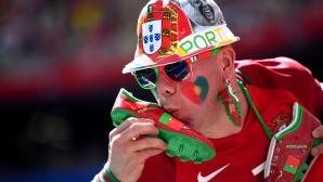 Феновете на Португалия срещу Мароко