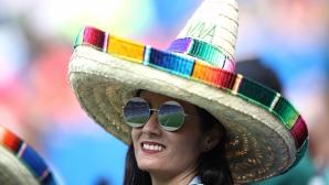 Феновете на Мексико за мача с Южна Корея