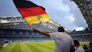 Феновете на Германия за мача с Швеция