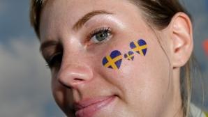 Феновете на Швеция за срещата с Германия