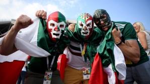 Феновете на Мексико срещу Бразилия