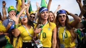 Феновете на Бразилия срещу Мексико