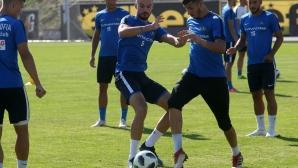 Тренировка на Левски преди Вадуц