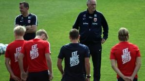 Националите на Норвегия с тренировка преди мача с България