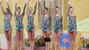 СП по художествена гимнастика - три топки и две въжета