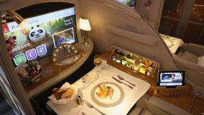 Кралски лукс и удобства в самолета на Реал Мадрид