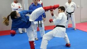 Тренировка на националния отбор по олимпийско карате
