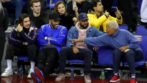 Звездите на Висшата лига гледаха НБА в Лондон