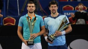 Награждаване след финала на двойки на Sofia Open 2019