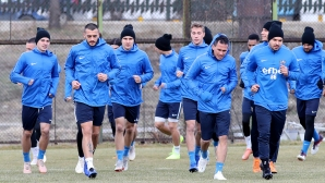 Тренировка на Левски преди мача с Локо (Пловдив)
