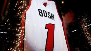 Маями извади от употреба номера на Крис Бош
