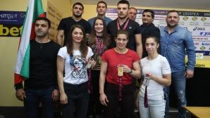 Пресконференция на медалистите от ЕП по борба